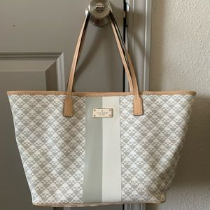 Kate Spade Gray and White Tote - Kindred Edition